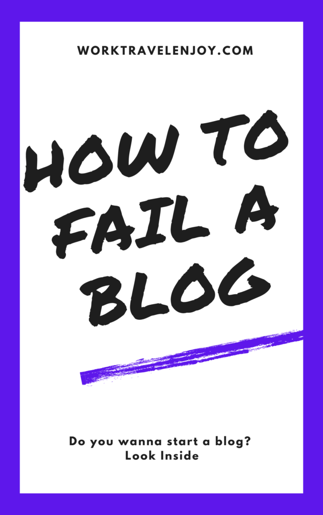 How to Fail a Blog - e-book